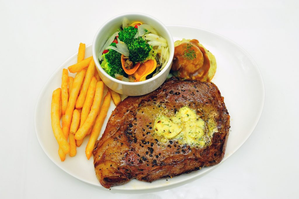Sirloin Steak meal.